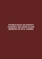 Kronologija aktivnosti Ogranka Seljačke sloge Buševec za 2016. godinu