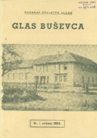 Ogranak Seljačke sloge – Glas Buševca br. 1