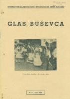 Ogranak Seljačke sloge – Glas Buševca br. 8